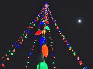 Ray Samples is using solar panels to power his holiday light display.