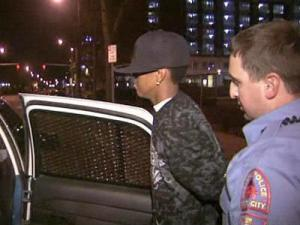 Raleigh police arrest a man after a fight at Club Zydeco in downtown Raleigh on Dec. 30, 2009.