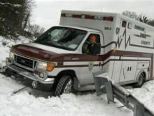 Scattered accidents on snow-slicked roads
