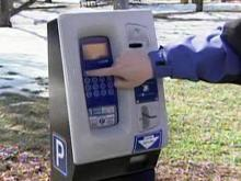 Parking pay station in Raleigh