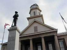 Courthouse was without clocks for a century
