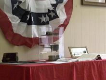 Courthouse artifacts displayed during street fair