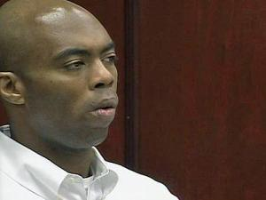 Samuel James Cooper sits in a Wake County courtroom April 6, 2010, as jurors deliberate in his murder trial.