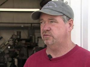 Wayne Umphlette, owner of Harbor Welding in the tiny Dare County village of Wanchese