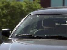 A bullet hit the windshield of Durham Police Chief Jose Lopez's car in April 29, 2010.