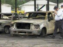 A fire was reported early Tuesday at the Department of Transportation facility in Clinton.