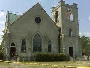Crews responded to a fire at the Free Spirit Church, 212 N. Pollock St. in Selma, shortly before 11 a.m. Sunday, May 16, 2010.