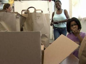 Opportunities Industrialization Center of Wilson held its quarterly food giveaway on Wednesday, May 26, 2010.