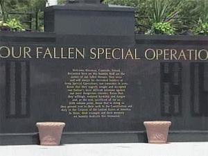 The Fallen Special Operations Soldier Memorial Wall at Fort Bragg that is in tribute to 787 Army Special Operation soldiers since the Vietnam War and more than 255 in the war on terror.