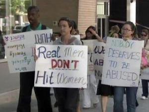 Group marches in Raleigh against domestic violence