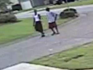 """Fayetteville police say they are seeking information on the two men shown in this photo. The men were seen in the  Bear Creek Circle area where multiple """"Peeping Tom"""" incidents and a sexual assault have recently taken place."""