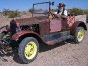 Walter Fousel has been traveling the country with his son in this 1926 Ford Model T that he built himself. (Photo courtesy of Facebook)