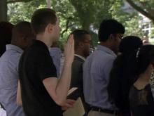 Dozens become citizens on Independence Day