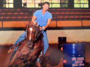 Stacey McAden with Breeze at the National Barrel Horse Association state finals in Raleigh on July 17, 2010. (Photo courtesy of Stacey McAden)
