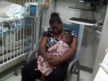 Jessiah Jackson cuddles in the arms his grandmother, Tammy Jones, at UNC Hospitals at Chapel Hill on July 26, 2010.