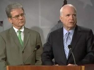 Republican Sens. Tom Coburn (Okla.) and John McCain (Ariz.) released a report Tuesday, Aug. 3, 2010, profiling wasteful federal stimulus projects.