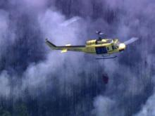Fighters battle brush fire in Johnston County