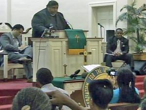 State NAACP President Rev. William Barber detailed a civil rights complaint against the Wake County school system during a gathering at Christian Faith Baptist Church in Raleigh Saturday, Sept. 25, 2010.