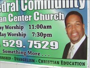 A church pastor is at odds with the Town of Cary over a sign displayed in front of his church.