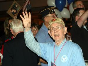 About 100 veterans from the Triangle were the guests of Flight of Honor for a free trip to the WWII Memorial in Washington, D.C., on Oct. 7, 2010.