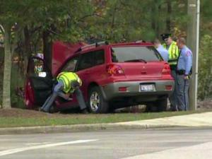 A 46-year-old man was killed and his 10-year-old son was injured in a single-vehicle wreck in front of Jeffreys Grove Elementary School in north Raleigh elementary school Wednesday morning, police said.
