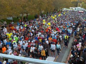 Nearly 3,000 runners participated Sunday morning in the City of Oaks Marathon and Rex Healthcare Half Marathon in Raleigh.