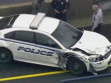 Sky 5 video: UNC police car chase