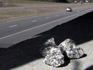 Robeson County authorities said rocks, asphalt and bricks were thrown at eight vehicles on U.S. 74 on Nov. 25-26, 2010.