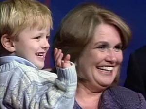 Elizabeth Edwards holds her son, Jack, during a campaign appearance.