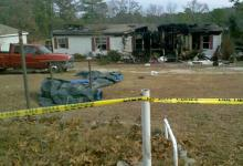 Fire damaged a home in Harnett County on Christmas Eve, forcing a family of four to spend their holiday with neighbors.