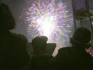 Revelers celebrate New Years Eve at Raleigh's First Night event on Dec. 31, 2010.