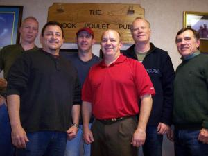 The Rocketeers who gathered to remember Desert Storm included, from left, Mark Stevens, David Castillo, Brad Freels, James McCullough, David Klinkicht and David Stone.