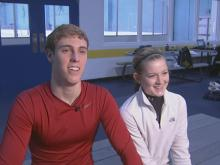 Triangle pair competes in figure skating nationals