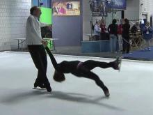 Figure skating fan couple decides to try the sport