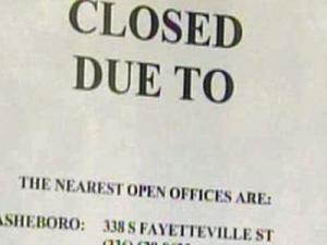 The sudden closure of the license plate agency in Siler City has left customers in the area curious.