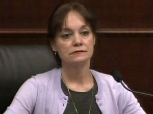 Brantly Shapiro, mother of Elena Shapiro, testifies in the Raymond Cook murder trial.