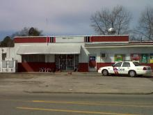 The owner of Sammy's Food Mart in Rocky Mount was found shot to death early Tuesday, March 8, 2011. (Photo by Tara Lynn)