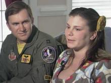 Airman, wife jump for joy