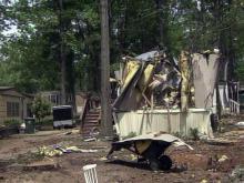 Volunteers provide support to devastated neighborhood