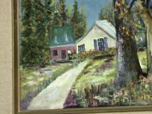 A painting survived the tornadoes of April 16 intact, but its owner has not stepped forward to claim it.
