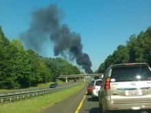 Part of both northbound and southbound lanes of Interstate 85 near N.C. Highway 86 in Hillsborough were closed due to a series of wrecks on June 30, 2011.