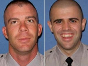 State troopers Edward Wyrick, left, and Andrew Smith