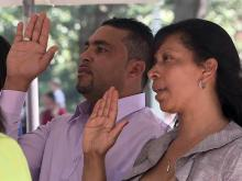 Dozens become US citizens on Independence Day