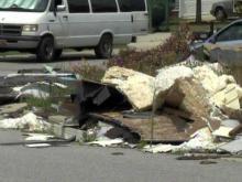 Raleigh tells tornado victims to clean up debris