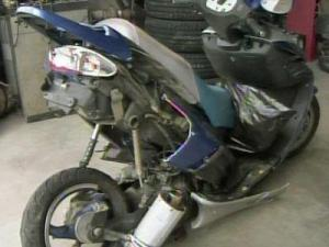 This is the mo-ped that David Lee Cruz II, 31, was driving when he was hit by a car and dragged at least 50 feet on Camden Road in Fayetteville on July 8, 2011. He died the following day.