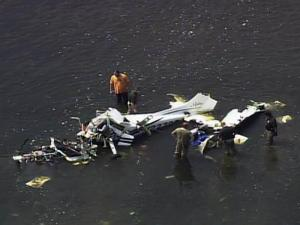 A small plane crashed in the Cape Fear River near the Harnett Regional Jetport on July 20, 2011.