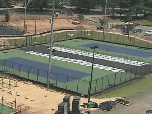 Wake Forest University is finishing up a state-of-the art tennis complex for the first Winston-Salem Open later this month.