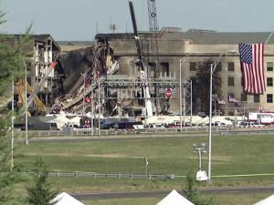 While the nation watched in horror as the World Trade Center in Manhattan flamed and smoldered on live television after planes hit each of the iconic twin towers the morning of Sept. 11, 2001, a third plane, hijacked American Airlines Flight 77, flew into the Pentagon in Arlington, Va.