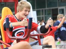 Caniacs proved that they have the energy and the lungs to be part of the loudest house in the NHL at the Carolina Hurricanes' annual fan festival and scrimmage Sunday, Sept. 18.