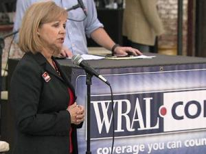 Billie Redmond speaks during a forum for Raleigh mayoral candidates on Oct. 6, 2011.